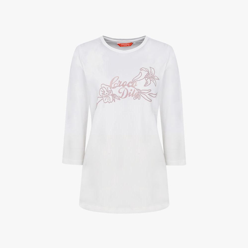릴리 7부 라운드 티셔츠_CL0FTS902