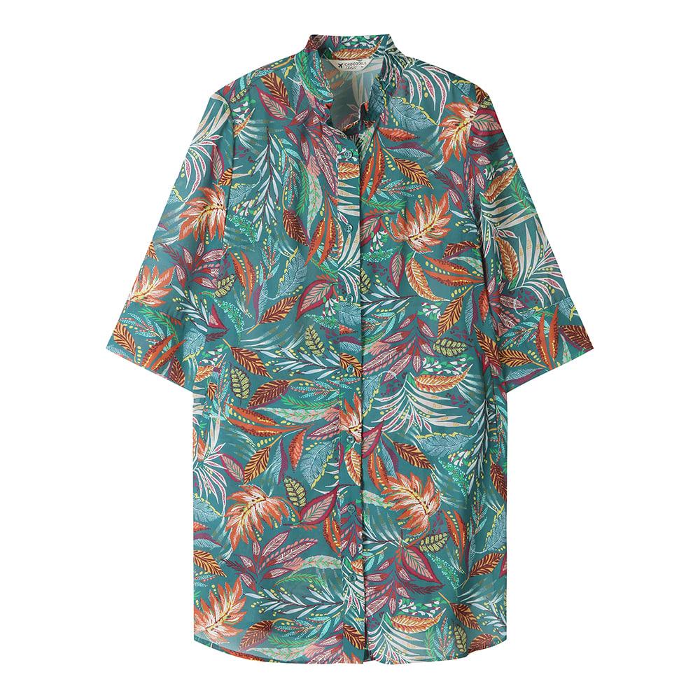 트로피컬 프린트 7부 소매 셔츠_CL0MBL709