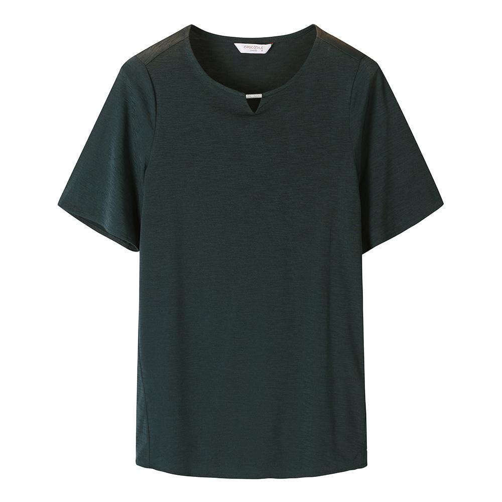 넥크라인 반팔 티셔츠_CL0MTL407