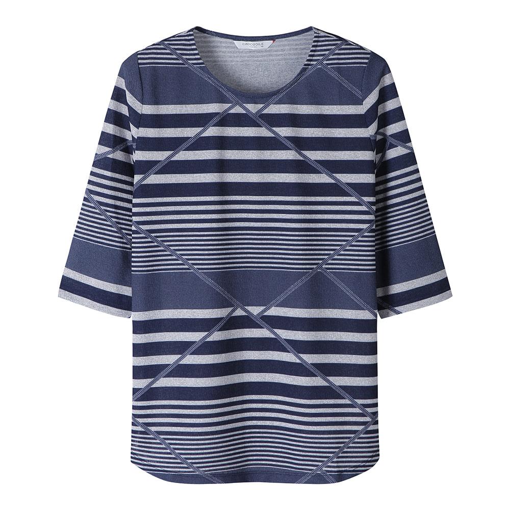 스트라이프 7부 티셔츠_CL0MTS106