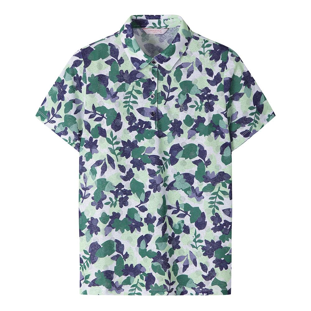 트로피컬 패턴 카라 티셔츠_CL0MTS220
