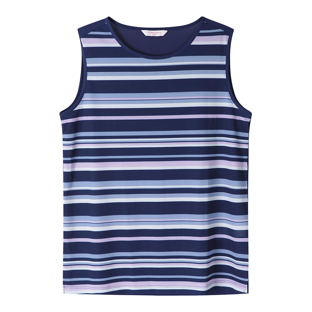 멀티 스트라이프 포인트 민소매 티셔츠_CL0MTS221