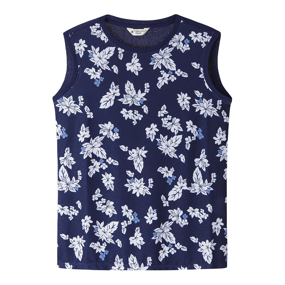 프린터 민소매 티셔츠_CL0MTS708