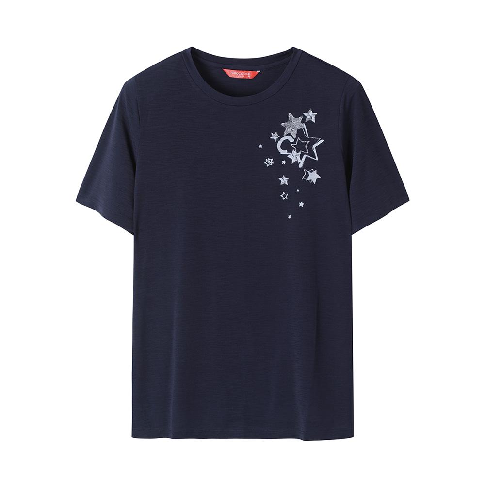 별 포인트 라운드 티셔츠_CLAFTS901
