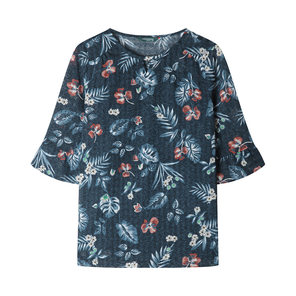 네크 금속장식 포인트 티셔츠_CLAMTS120