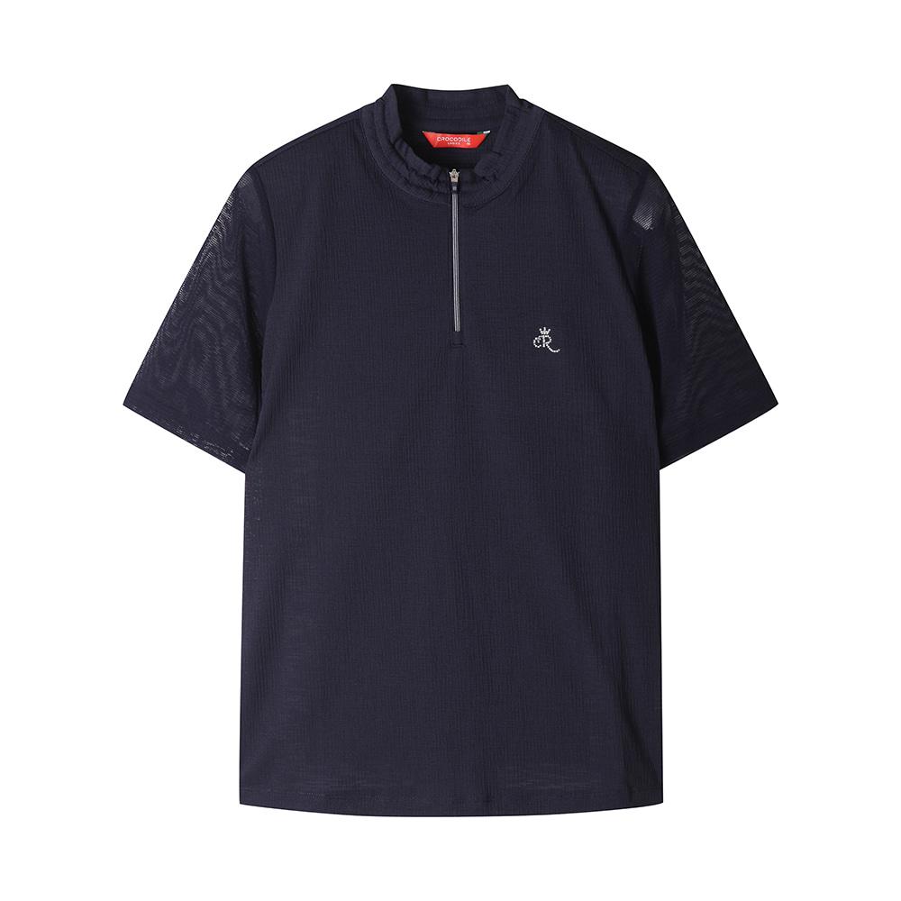소매 매쉬 집업 티셔츠_CLAMTS229