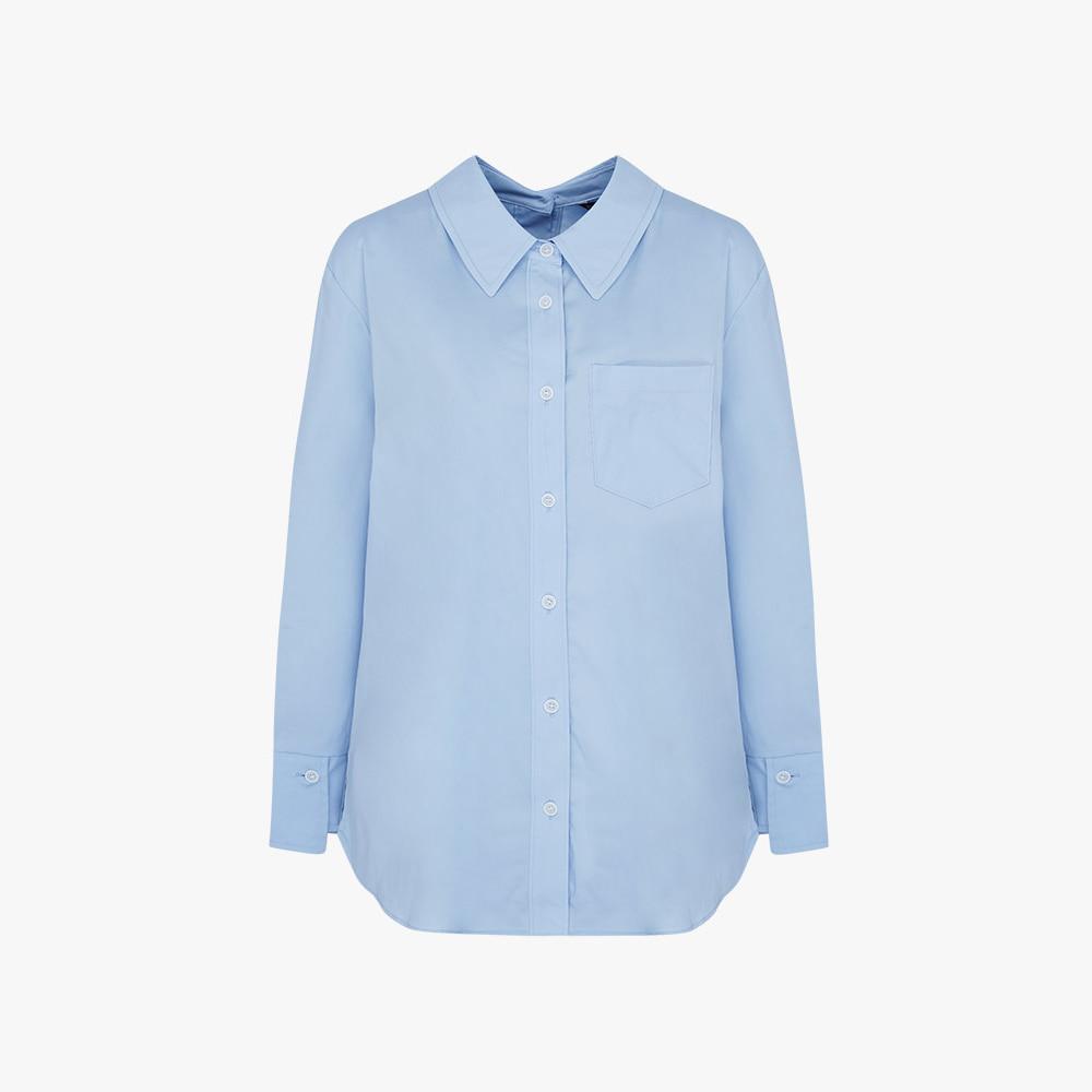 라이트 블루 셔츠 블라우스 HC0FBL206
