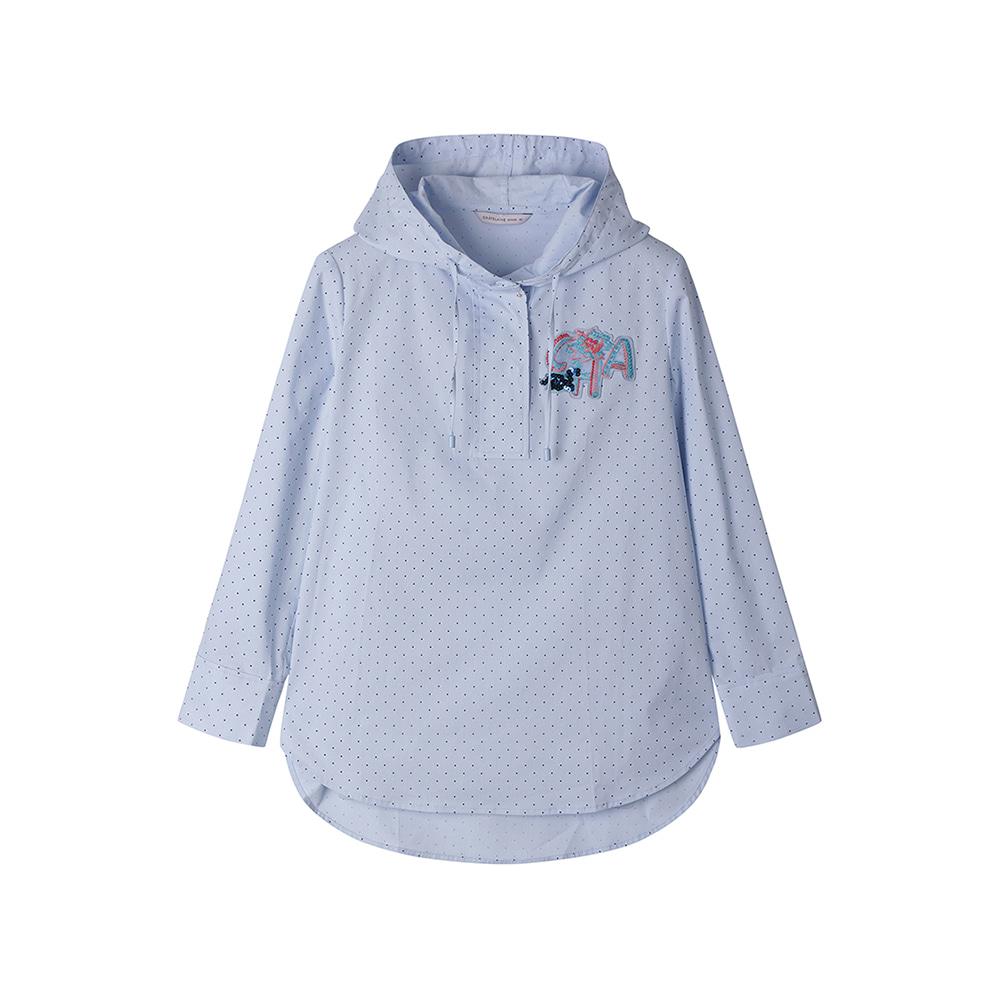 땡땡이 무늬 후드 셔츠_HC0MBL201