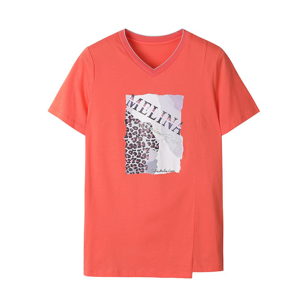 브이넥 기본 티셔츠_HC0MTS204