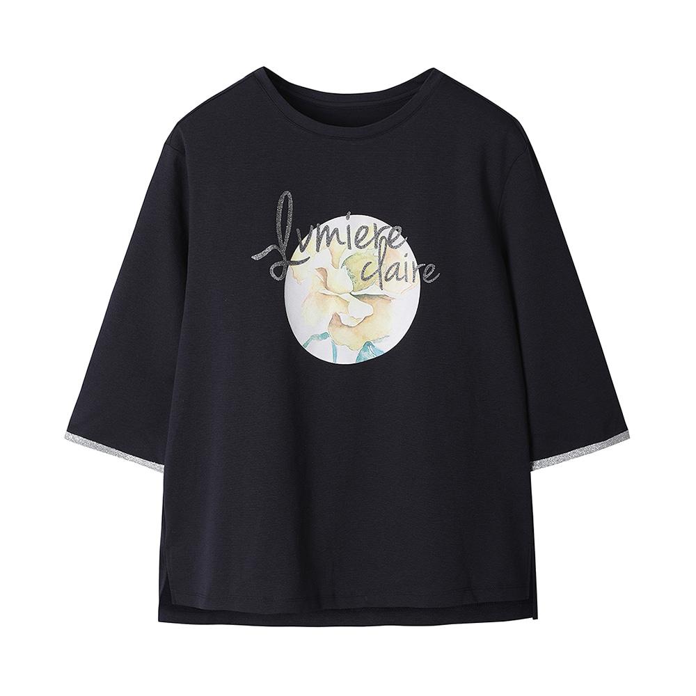 원포인트 프린트 티셔츠_HC0MTS208