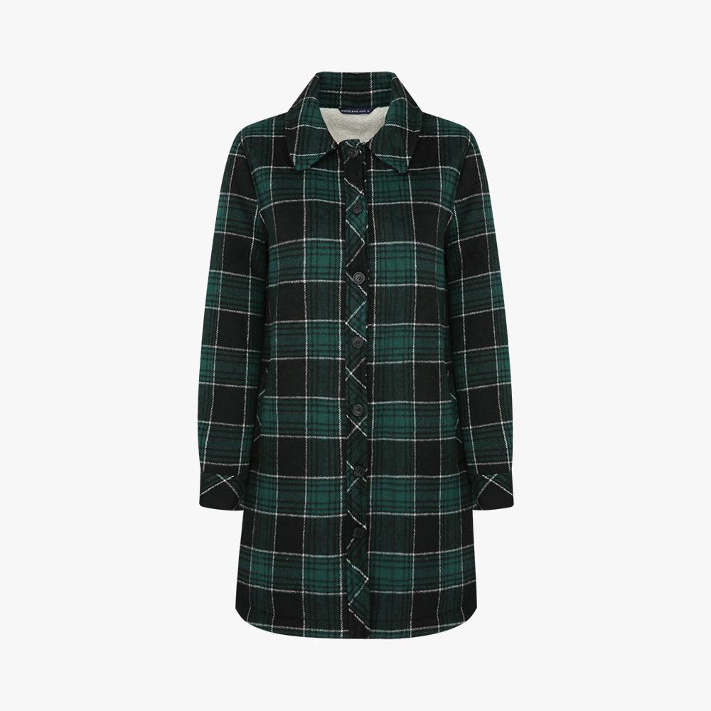 울혼방 페이크퍼 셔츠형 재킷 HC0WBL204