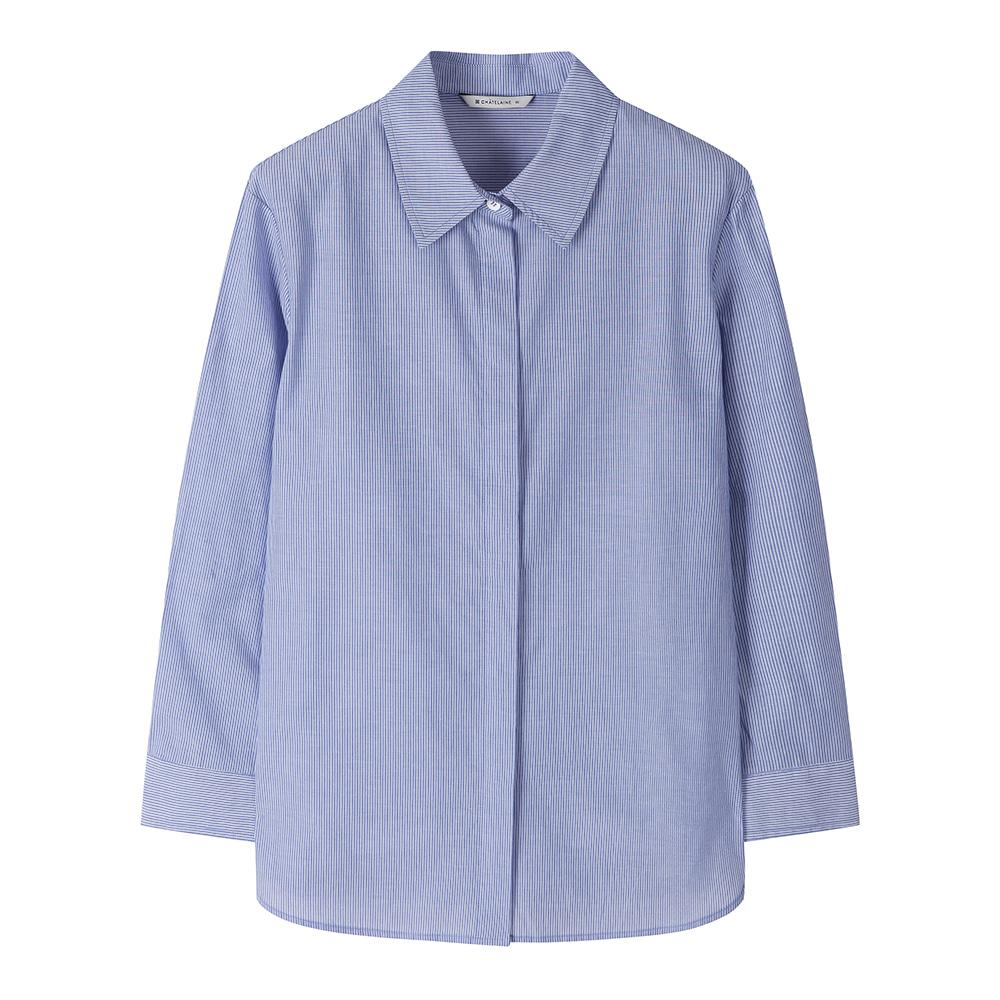 산뜻한 칼라감의 스트라이프 셔츠_HCAMBL203