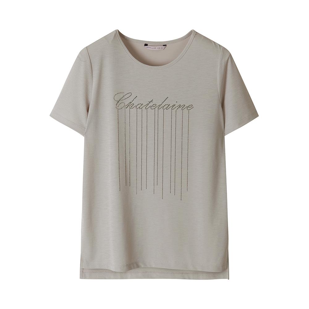 비즈 레터링 포인트 티셔츠_HCAMTS701