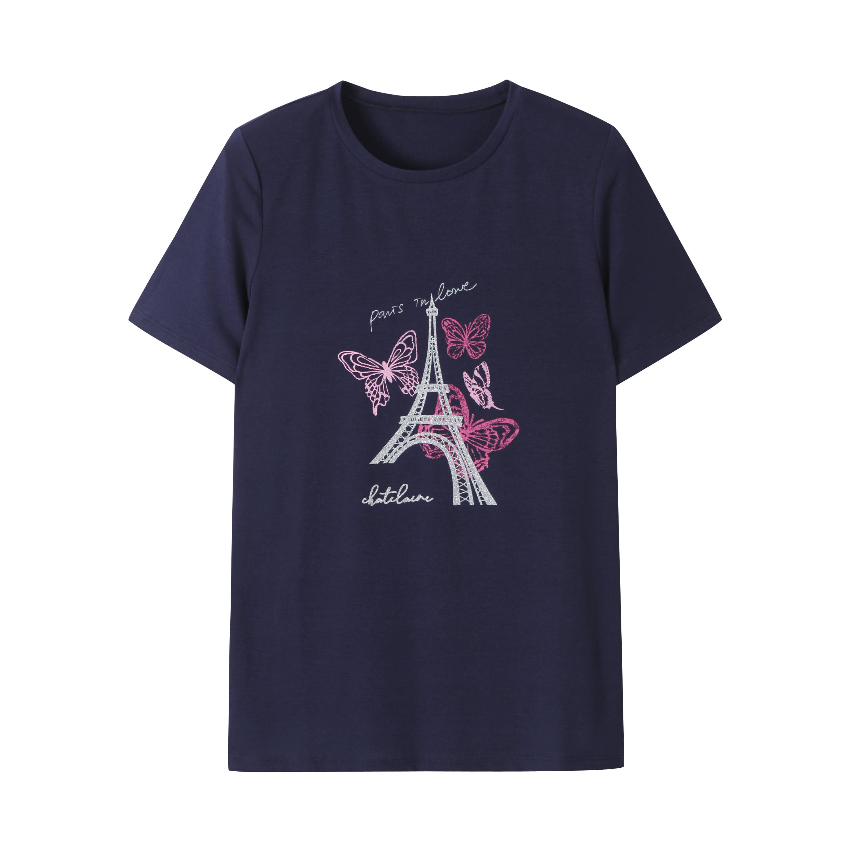 에펠탑 프린팅 반팔 티셔츠_HCAMTS706