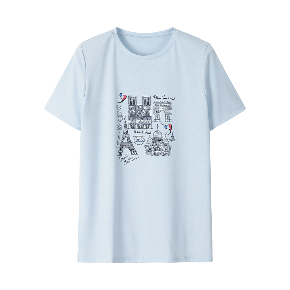 파리 일러스트 티셔츠_HCAMTS707