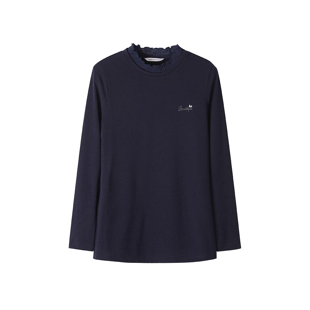 넥 레이스 포인트 티셔츠_HCASTS801