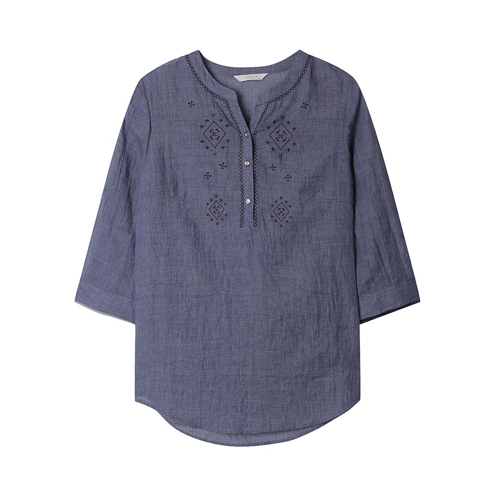 에스닉 차이나넥 셔츠_OH0MBL224