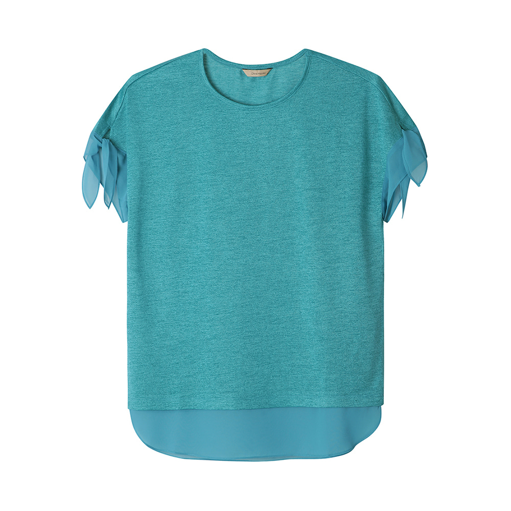 시스루리본 티셔츠 _OH0MTS112