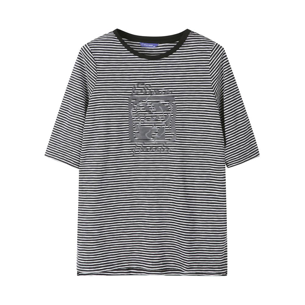 7부 스트라이프 티셔츠_OHAFTS901