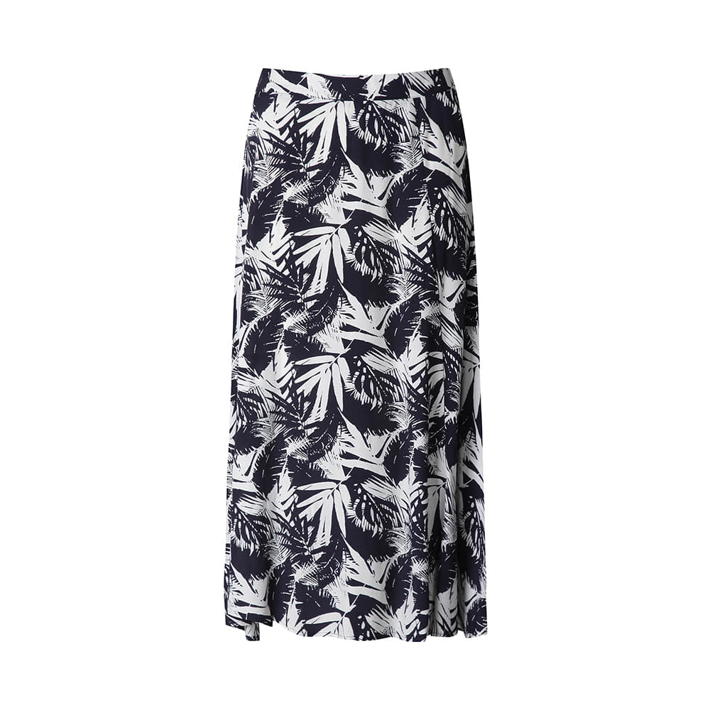 나뭇잎 패턴물의 스커트_OHAMSK401